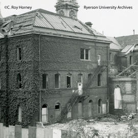 Demolition of east wing of Ryerson Hall