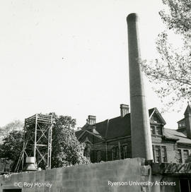 Heating plant building