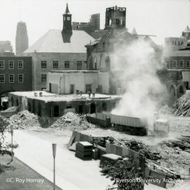 Ryerson Hall east wing demolition