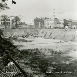 Excavation of North end of property