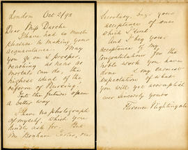 Florence Nightingale letter to Louise Darche
