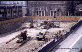 Construction site for Jorgenson Hall