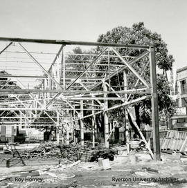 Building skeleton after demolition
