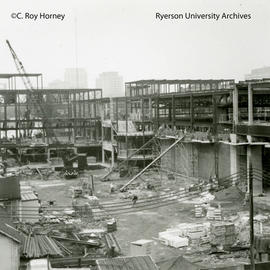Construction on Howard Kerr Hall North and West