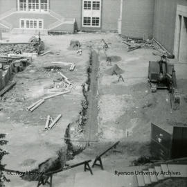 Pipe trench in north Quad