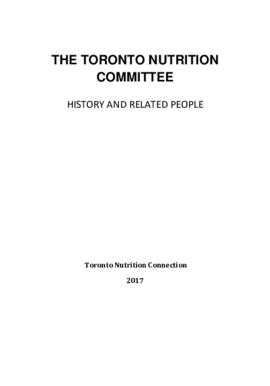 The Toronto Nutrition Committee - History and Related People