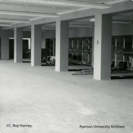Interior view of Library on second floor of Howard Kerr Hall