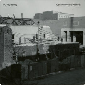 Demolition of east end of middle building