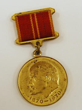 commemorative medal with Lenin profile