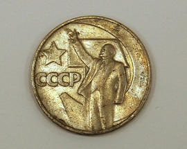Soviet one ruble coins