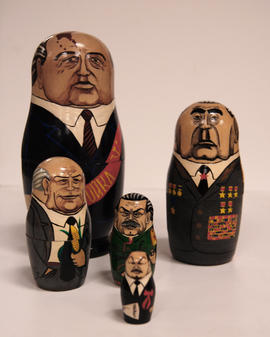 Set of Matrioshkas painted with Soviet political figures