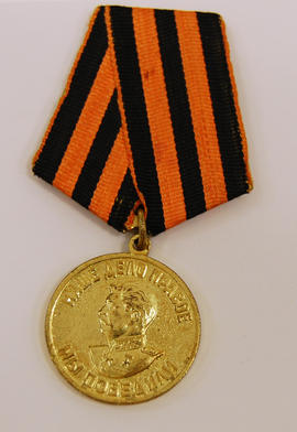 military medals with Stalin profile