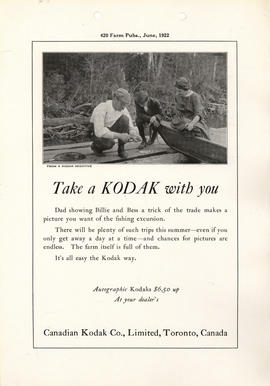 Take a Kodak with you : Autographic Kodaks $6.50 up at your dealer's / Canadian Kodak Co., Limite...