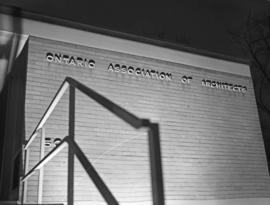Ontario Architects building sign