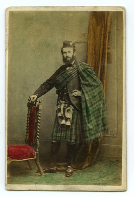 Portrait of man in highland dress