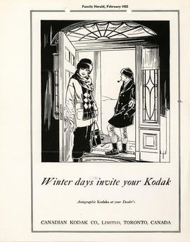 Winter days invite your Kodak : Autographic Kodaks at your dealer's / Canadian Kodak Co., Limited...