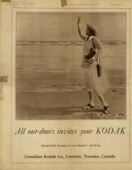 Take a Kodak with you : Autographic Kodaks at your dealer's - $6.50 up / Canadian Kodak Co., Limi...