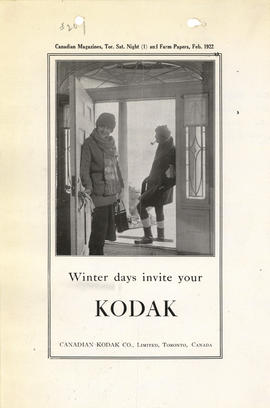 Winter days invite your Kodak : Canadian Kodak Co., Limited, Toronto, Canada