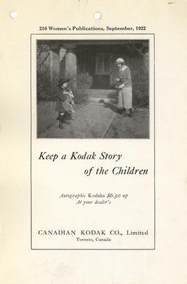 Keep a Kodak story of the children : Autographic Kodaks $6.50 up at your dealer's / Canadian Koda...