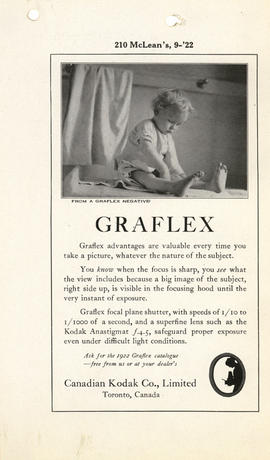 Graflex : Ask for the 1922 Graflex catalog--free from us or at your dealer's / Canadian Kodak Co....