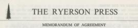 Ryerson Press Textual Records