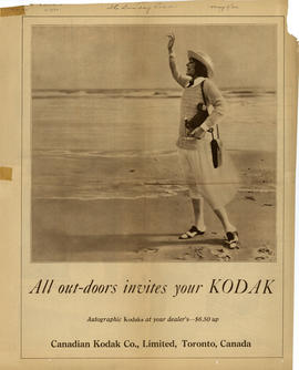 All out-doors invites your kodak : Autographic Kodaks at your dealer's - $6.50 up / Canadian Koda...