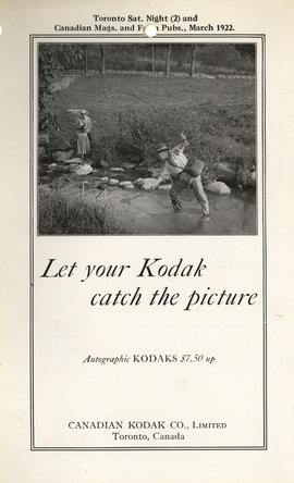 Let your Kodak catch the picture : Autographic Kodaks $7.50 up / Canadian Kodak Co., Limited, Tor...