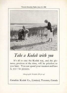 Take a Kodak with you : Autographic Kodaks $6.50 up / Canadian Kodak Co., Limited, Toronto, Canada