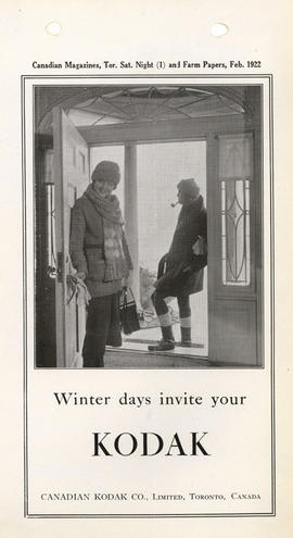 Winter days invite your Kodak / Canadian Kodak Co., Limited, Toronto, Canada