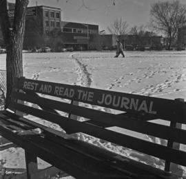 Park bench : Edmonton Journal