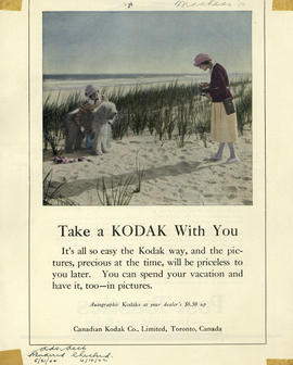 Take a Kodak with you : Autographic Kodaks at your dealer's $6.50 up / Canadian Kodak Co., Limite...