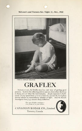 Graflex : The 1922 Graflex catalogue--free from us or your dealer. / Canadian Kodak Co., Limited,...
