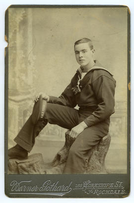 Portrait of sailor stationed at H.M.S. Vivid