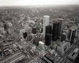 Aerial shot : downtown Toronto