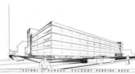 Architects drawing : Eatons Calgary : parking decks