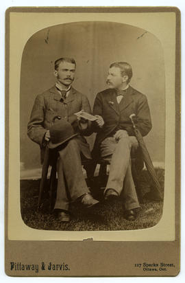 Potrait of two men with cabinet card