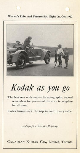 Kodak as you go : Autographic Kodaks $6.50 up / Canadian Kodak Co., Limited, Toronto
