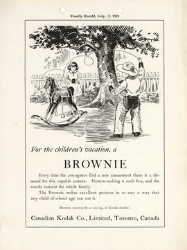 For the children's vacation, a Brownie : Brownie cameras $2.00 and up, at Kodak dealers'. / Canad...
