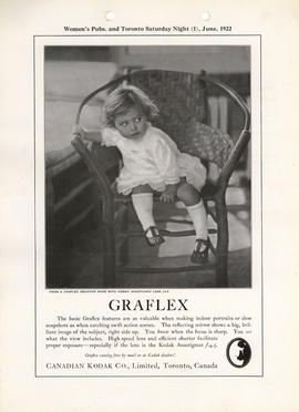 Graflex : Graflex catalog free by mail or at Kodak dealers'. / Canadian Kodak Co., Limited, Toron...