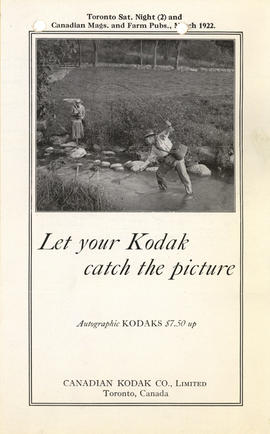 Let your Kodak catch the picture : Autographic Kodaks $7.50 up / Canadian Kodak Co., Limited / To...