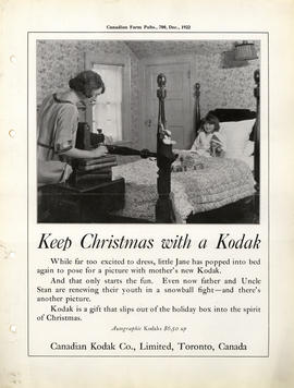 Keep Christmas with a Kodak : Autographic Kodaks $6.50 up / Canadian Kodak Co., Limited, Toronto,...