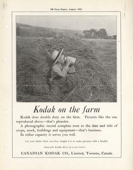 Kodak on the farm : Autographic Kodaks $6.50 up at your dealer's / Canadian Kodak Co., Limited, T...