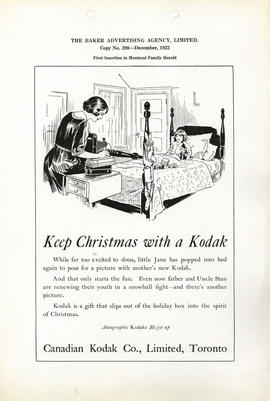 Keep Christmas with a Kodak : Autographic Kodaks $6.50 up / Canadian Kodak Co., Limited, Toronto