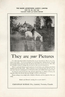 They are your Pictures : Kodak and Brownie catalog free at your dealer's / Canadian Kodak Co., Li...