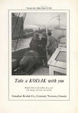 Take a Kodak with you : Kodak film in the yellow box, over the counter all over the world. / Cana...