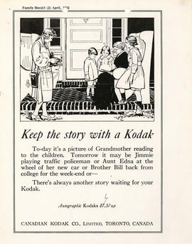 Keep the story with a Kodak : Autographic Kodaks $7.50 up / Canadian Kodak Co., Limited, Toronto,...