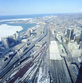 Aerials from the CN Tower : Toronto