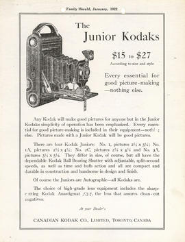 The Junior Kodaks $15 to $27 according to size and style : Every essential for good picture-makin...