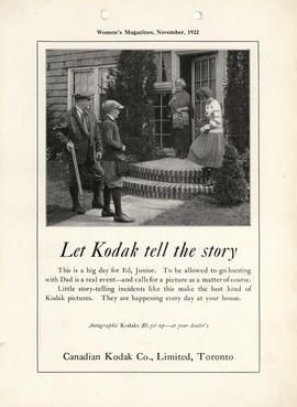 Let Kodak tell the story : Autographic Kodaks $6.50 up--at your dealer's / Canadian Kodak Co., Li...