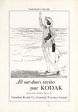 All out-doors invites your Kodak : Autographic Kodaks $7.50 up / Canadian Kodak Co., Limited, Tor...